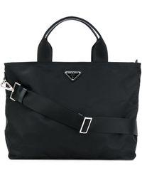 Prada Nylon Tote Bag - Black