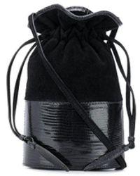 Hunting Season Lola Lizard Small Bucket Bag - Black
