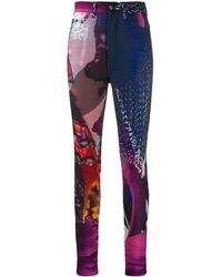 Maison Margiela Abstract Print Trousers - Multicolour