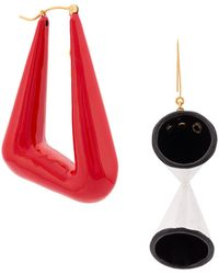 Stella McCartney Abstract Shape Earrings - Red