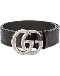 innovative design 90804 e3f73 Cintura in pelle con fibbia Doppia G - Nero