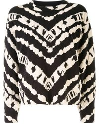 PROENZA SCHOULER WHITE LABEL Animal Jacquard Cropped Top - Black