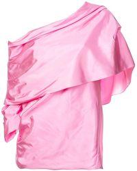 Rosie Assoulin オフショルダー ブラウス - ピンク