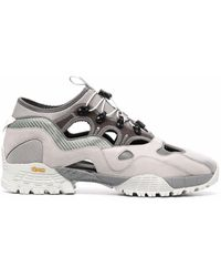 White Mountaineering Cut-out Low-top Trainers - Grey