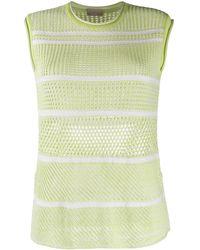 Mrz Open-knit Top - Green