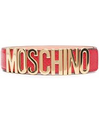 Moschino ロゴ ベルト - レッド