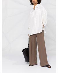Brunello Cucinelli Двусторонняя Рубашка С Приспущенными Плечами - Белый