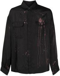 424 ブリーチ オーバーシャツ - ブラック