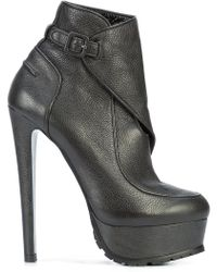 Vera Wang Wrapped Ankle Boots - Black