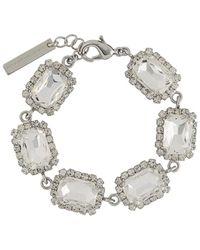 Christopher Kane Crystal Stone Bracelet - Metallic