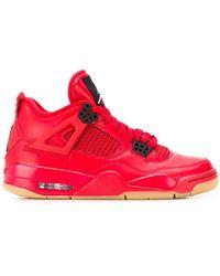 Nike Высокие Кроссовки 'air Jordan 4 Retro' - Красный