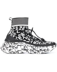 Karl Lagerfeld Skyline Graffiti Sneakers - Black