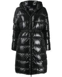 Duvetica Belted Padded Coat - Black