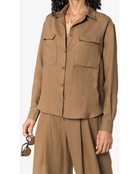 Three Graces London Willow Shirt - Brown