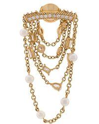 Yvonne Léon | 18kt Gold Diamond Chain Earring | Lyst