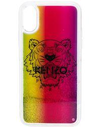 KENZO Iphone X/xs Hoesje Met Glitter - Roze