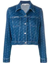 Stella McCartney モノグラム デニムジャケット - ブルー