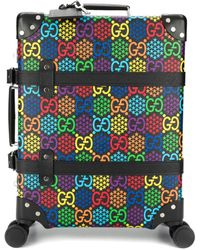 Gucci Globe-trotter GG Psychedelic Medium Suitcase - Black