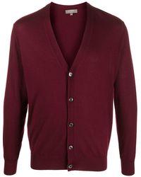 N.Peal Cashmere V-neck Cashmere Cardigan - Red