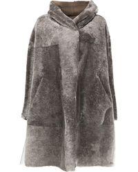 Sylvie Schimmel Oversized Shearling Coat - Gray
