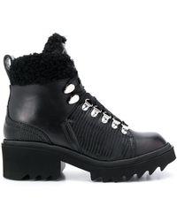 Chloé Ботинки Bella С Отделкой Из Овчины - Черный