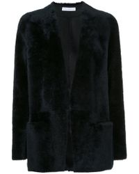 Inès & Maréchal - Shearling Open Front Jacket - Lyst