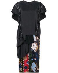 Carven Tシャツワンピース - ブラック