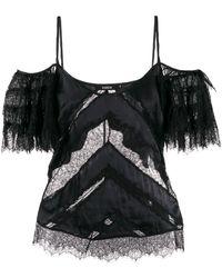 Amen Lace Detail Blouse - Black