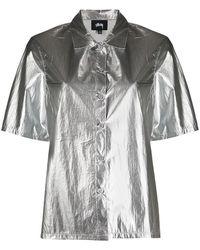 Stussy Metallized Short-sleeved Shirt - Metallic