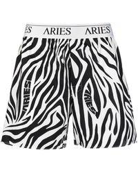 Aries ゼブラプリント ボクサーパンツ - ブラック