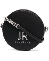 John Richmond ラウンド ショルダーバッグ - ブラック