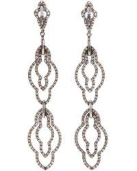 Loree Rodkin Drop Diamond Earrings - Black