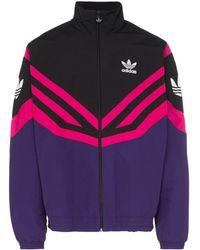 62fc0b6bcbf42 Sportive Stripe Track Jacket - Purple
