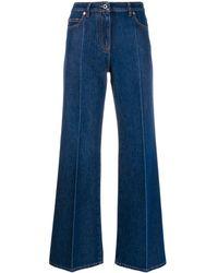 Valentino Vロゴ ワイドジーンズ - ブルー