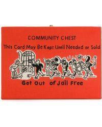 Olympia Le-Tan Community Chest clutch bag - Orange
