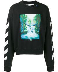 Off-White c/o Virgil Abloh Sweater Met Waterval Print - Zwart