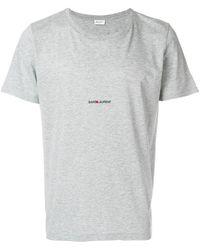 Saint Laurent - ロゴtシャツ - Lyst