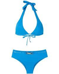 Amir Slama Metallic Bikini - Blauw