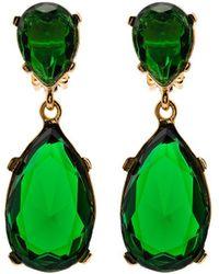 Kenneth Jay Lane Gold-tone Crystal Drop Earrings - Metallic