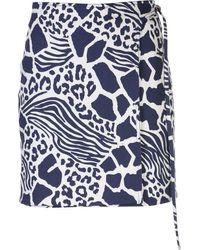 Adam Lippes Rock mit Print - Blau