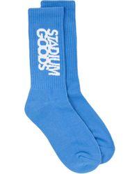 Stadium Goods Crew Length Socks - Blue