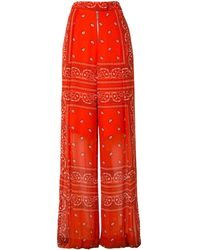 Dion Lee Wide Leg Bandeau Scarf Trousers - Orange