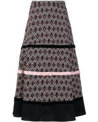 Vivetta - Patterned Bow Detail Skirt - Lyst
