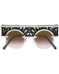 Oxydo Round Tinted Sunglasses - Zwart