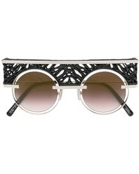 Oxydo Round Tinted Sunglasses - Black