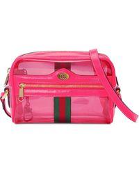 Gucci Borsa Ophidia mini transparente - Rosa