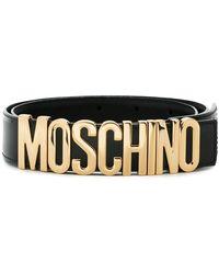 Moschino ロゴ ベルト - ブラック
