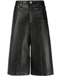 Rag & Bone Culottes de talle alto - Negro