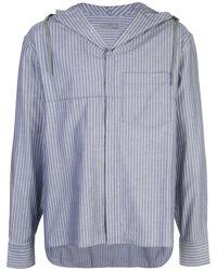 Lanvin - ストライプ フーデッドシャツ - Lyst