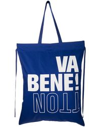 Benetton Bolso shopper grande - Azul